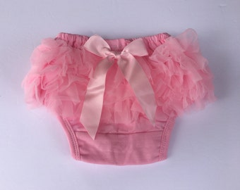 Pink Bloomers/Baby Bloomers/Ruffle Bloomers/Toddler Bloomers/Newborn Bloomers/Birthday Bloomer/Infant Bloomers/Lace Bloomers/Cake Smash