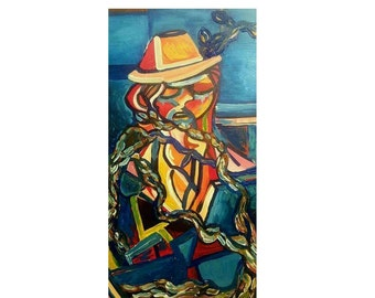 "The Working Man (36"" x 18"" Acrylic on Canvas)"