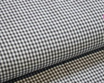 Vichykaro gray squares 2 mm