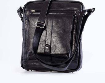 Messenger Leather messenger Leather bag Leather messenger bag Black leather bag Black messenger bag Leather shoulder bag Crossbody bag