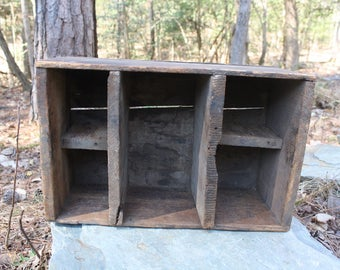 Antique Wood Crate - Wood Box - Old Crate - Rustic Organizer - Farmhouse Decor - Old Advertising
