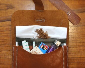Hand Made Leather Tobacco Pouch
