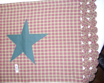 A24 Green Home spun with stars table runner