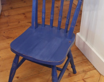 Painted Distressed Style Farmhouse Kitchen Chair