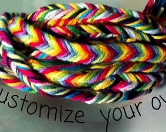 CUSTOMISE your OWN fishtail braid friendship bracelet