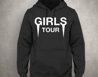 Girls Tour -  Black Hoodie - White Front- Tour Merch - Yeezus - Kanye West - Free UK Delivery!