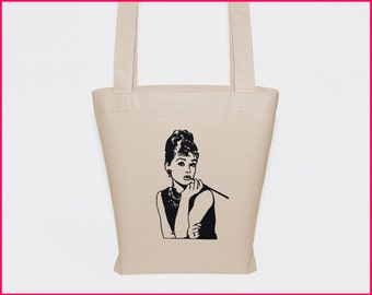 large canvas tote, totebag, cheap tote bags, big tote bag, audrey tote bag, organic cotton bag, embroidered tote, cotton shopper, eco tote