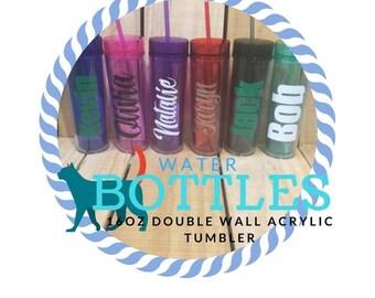 16 oz Personalized Double Wall Acrylic Tumbler