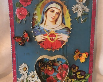 Madonna Recycled Tin metal wall Art