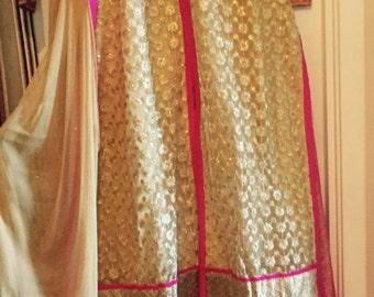 Chiffon kameez with skirt
