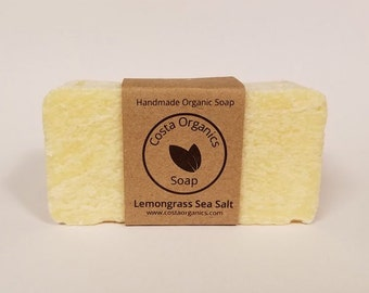 Organic Lemongrass Sea Salt Soap - Scented (Handmade)
