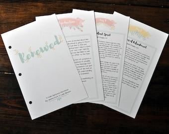 Renewed 14-Day Devotional. Bible Journaling Printable