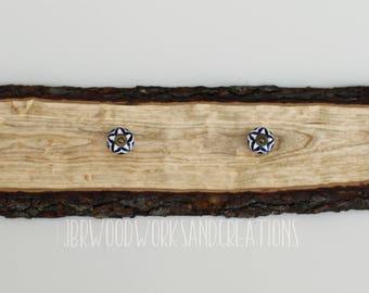 Live edge Cherry wood coat rack