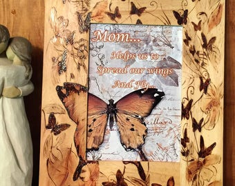 Butterflies & Leaves Picture frame