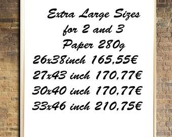 Extra Large print XXL Paper print Extra large giccle print Extra large painting Extra large watercolor