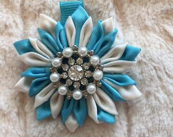 Kanzashi Ribbon Floral Hair Bow