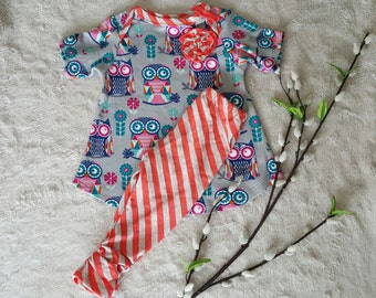 Baby girl tunic and leggings, baby girl clothes, baby girl outfit