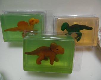 Kids Critter Soap - dinosaur - glycerin - toy in soap - kids gift - childs gift - birthday - stocking stuffer