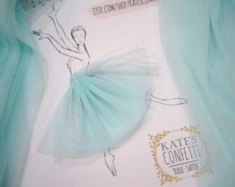 66 Tiffany Tutu Fabric, Tulle Soft Luxury Material Wholesale, Tulle Fabric, Tulle Fabric for Tutus - 3m width