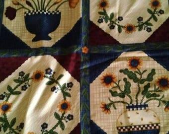 Debbie Mumm fabric 42x 81 Flowers