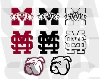 mississippi state bulldogs svg, mississippi state bulldogs png, mississippi bulldogs dxf, logo badge emblem pete pistol instant download