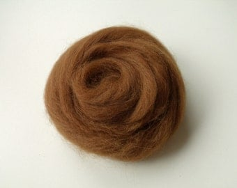 20g alpaca wool felting or spinning hazelnut extremely soft and thin