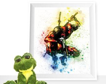 80%OFF Deadpool print Deadpool wall decor, Avengers printable, Marvel poster, Deadpool watercolor, Wade Wilson art print, Deadpool printable