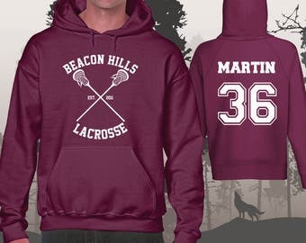 Teen Wolf Hoodie Beacon Hills Lacrosse Hoodies Martin 36 Unisex and Mens