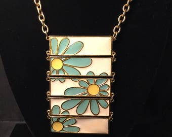 VENDOME FLOWER POWER Enameled Necklace