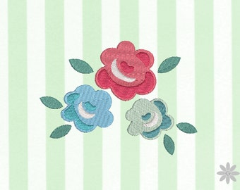 Embroidery file 13 x 10 - cottage rose