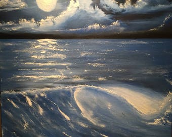 Nightscape moon