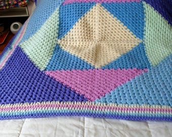 crochet car, pram, picnic blanket. Throw