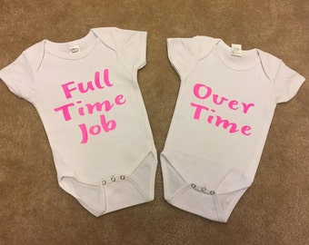 Twin shirts~ Full Time Job and Over Time