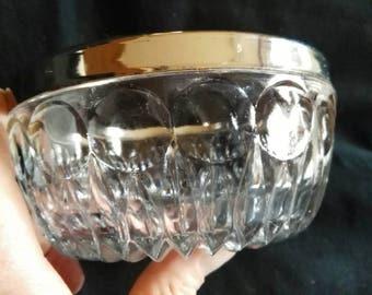 Vintage Silver Rim Bowl