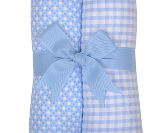 Monogrammed Blue Golf Burp Cloth Set