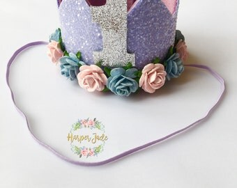 pastel purple, purple birthday crown, purple crown, princess crown