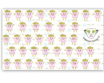 Fry Guy Sticker, fun sticker, kawaii sticker, planner sticker, french fry sticker