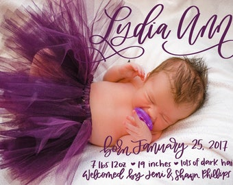 Birth announcements DIGITAL DOWNLOAD