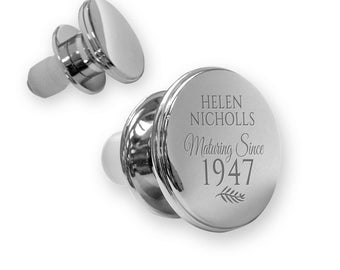 Personalised engraved 70TH BIRTHDAY deluxe wine bottle stopper gift idea, mirror polish, maturing since 1947 - MA70