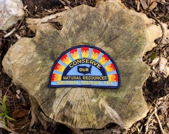 "Vintage ""Conserve Our Natural Resources"" National Wildlife Federation Patch"