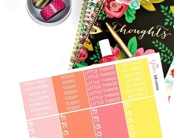 Bold & Bright | Little Things | Erin Condren Life Planner Vertical