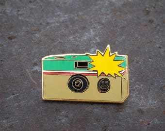 Disposable Camera Enamel Pin