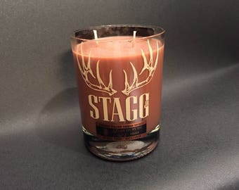 Stagg Jr. Bourbon Whiskey Soy Candle With/Without Attached Pedestal Base.Buffalo Trace. 750ML. Made To Order !!!!!!!
