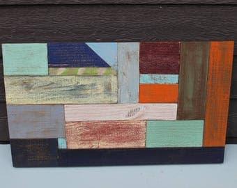 Wood Color Block Wall Art