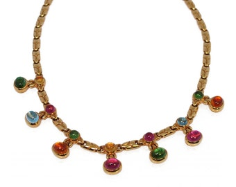 Necklace gemstones Bulgari 18K Yellow Gold
