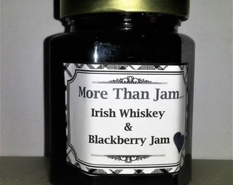 Artisan Irish Whiskey & Blackberry Jam 210g Homemade Father's day St Patricks Day Gift Dad