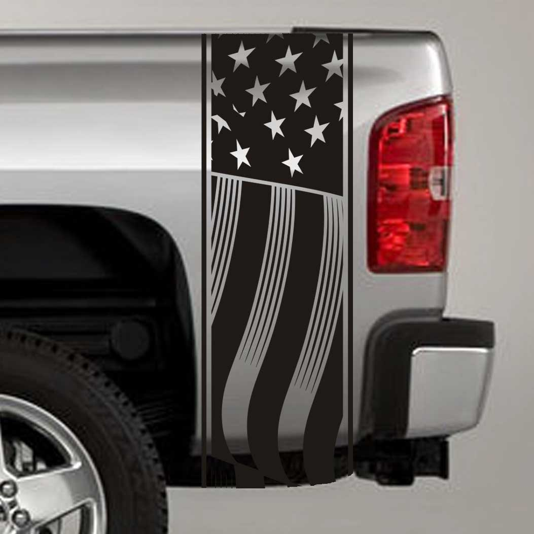 Truck Bed Stripe Decals Usa American Flag Stickers