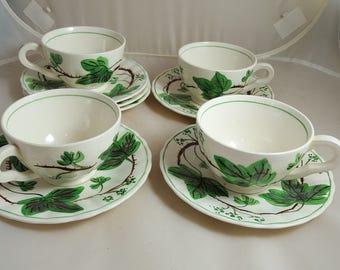 Blue Ridge Dewberry 4 Cups 6 Saucers