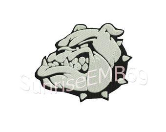 5 Sizes** Bulldog Embroidery design- 8 formats machine embroidery design - Instant Download machine embroidery pattern