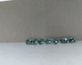 Aquamarine Faceted Oval Stone 1 pc
